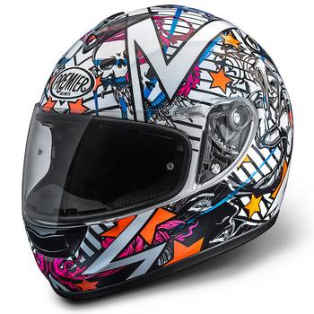 Full face helmet Premier Monza fiber white-orange-blue-fuchsia