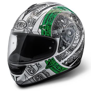 Premier Monza fiber Maori full face helmet white-green