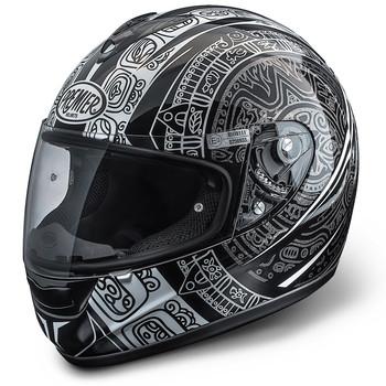 Full face helmet Premier Monza fiber Maori black-gray
