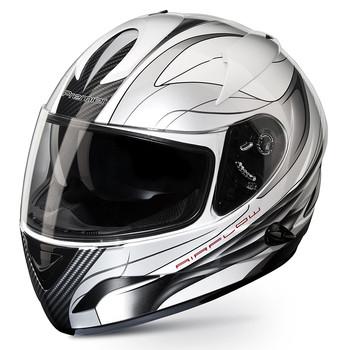Premier phase double visor full face helmet white black TT8