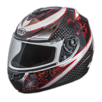 Full face helmet thor Premier joker multicolor white base