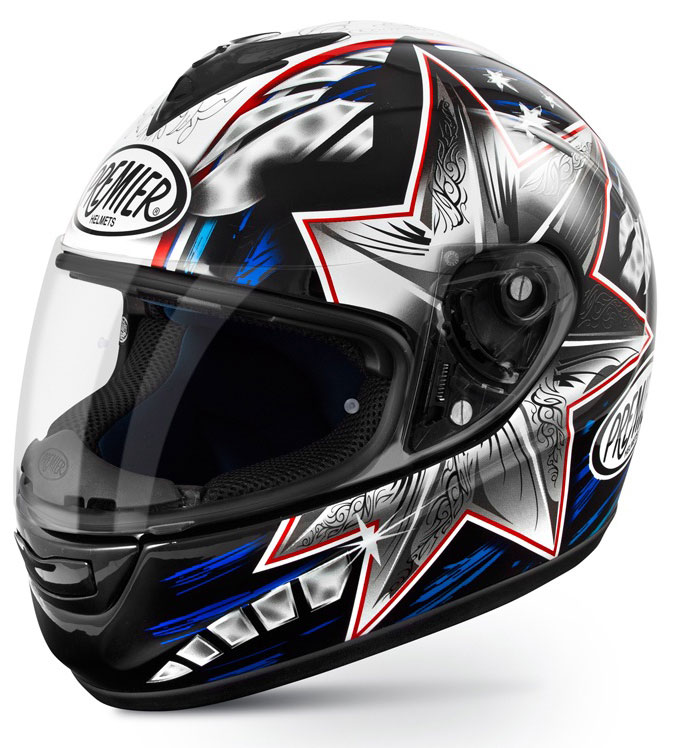 Full face helmet Premier Monza fiber replica Bayliss 2014