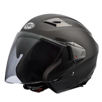 Casco moto jet Premier BLISS doppia visiera mono nero opaco