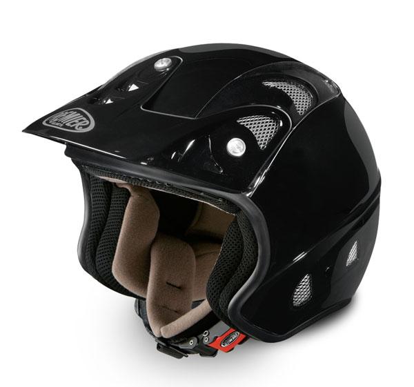 Premier FREE trial motorcycle helmet jet black