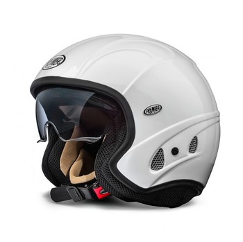 Motorcycle helmet jet Premier FREE EVO white with integrated vis