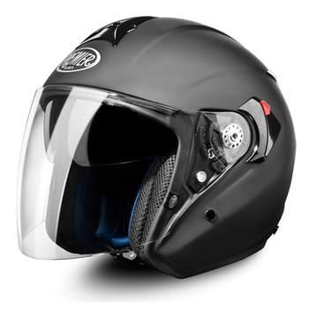 Casco moto jet Premier jt4 touring visiera lunga nero opaco