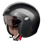 jet Premier Vintage motorcycle helmet with visor integrated carb