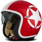 Casco moto jet Premier Vintage in fibra con visierino integrato