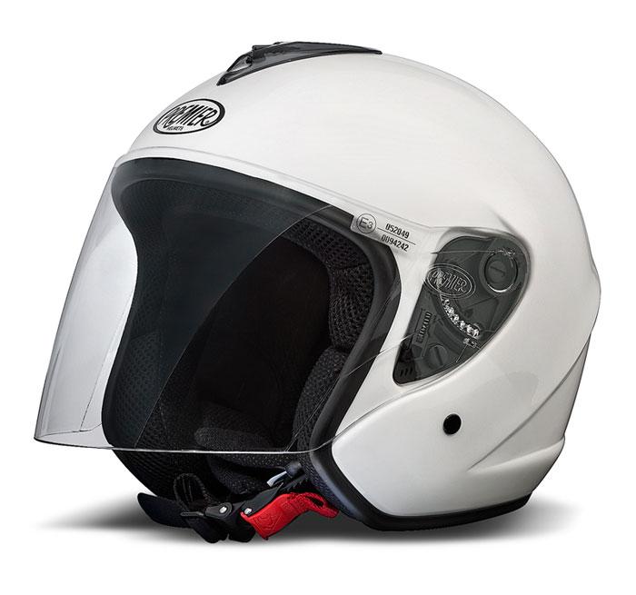 Premier Eos jet helmet White