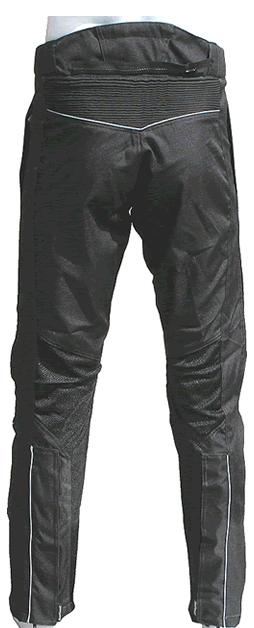 Pantaloni moto estivo Heartwave traforato Nero