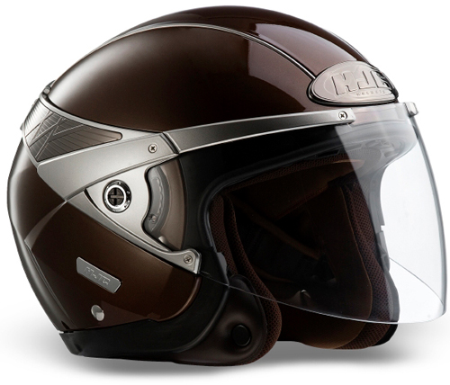 Casco moto jet HJC Arty Chocolate