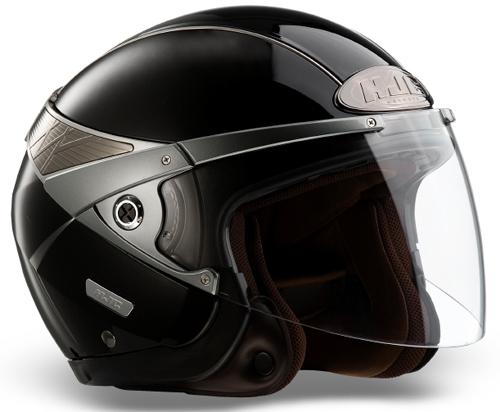 Casco moto jet HJC Arty Nero Lucido