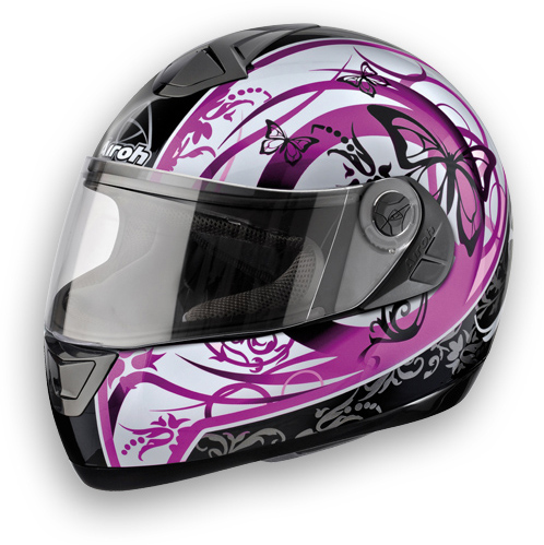 Motorcycle Helmet Shoei X-Aster Purple Butterfly