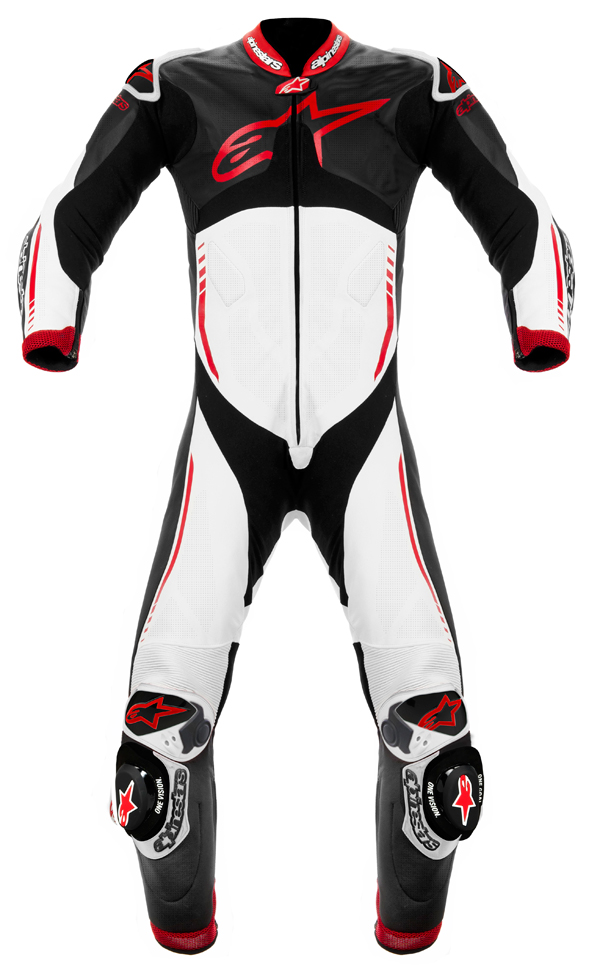 Alpinestars Atem leather suit black-white-red