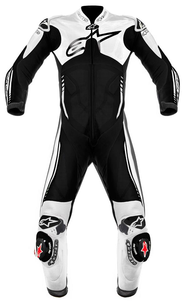 Alpinestars Atem leather suit black-white