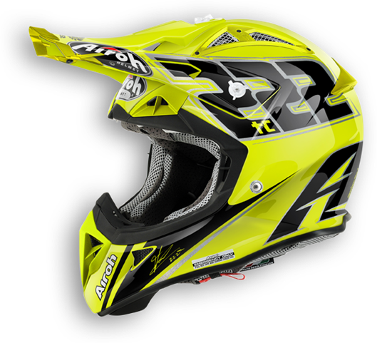 Casco cross Airoh Aviator 2.1 TC15 lucido