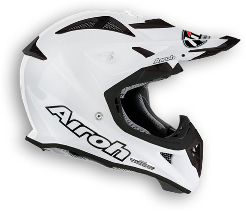 Casco moto cross Airoh Aviator Color bianco perla