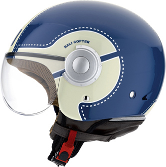 Casco moto Agv Bali Copter Multi Chopper blu-crema