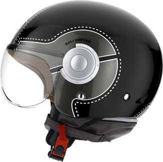 Casco moto Agv Bali Copter Multi Chopper nero-gunmetal