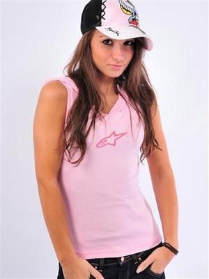 T-shirt Lady Alpinestars Baller Hoody Tee rosa