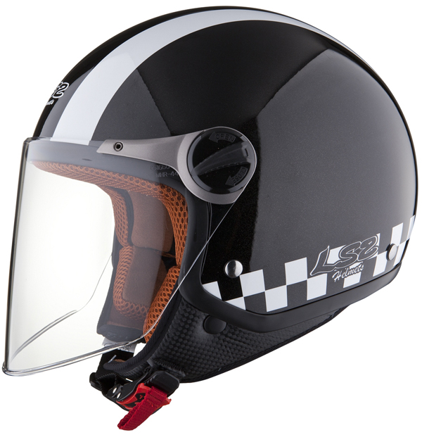 Casco moto jet LS2 OF560 Bat Nero
