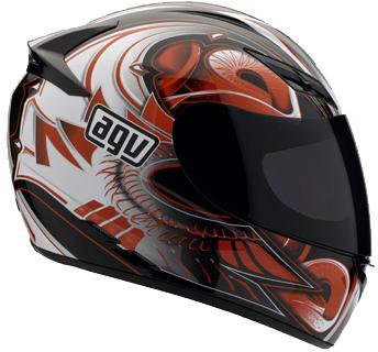 AGV K-3 Multi Bat Full Face Helmet - Col. Black/Red