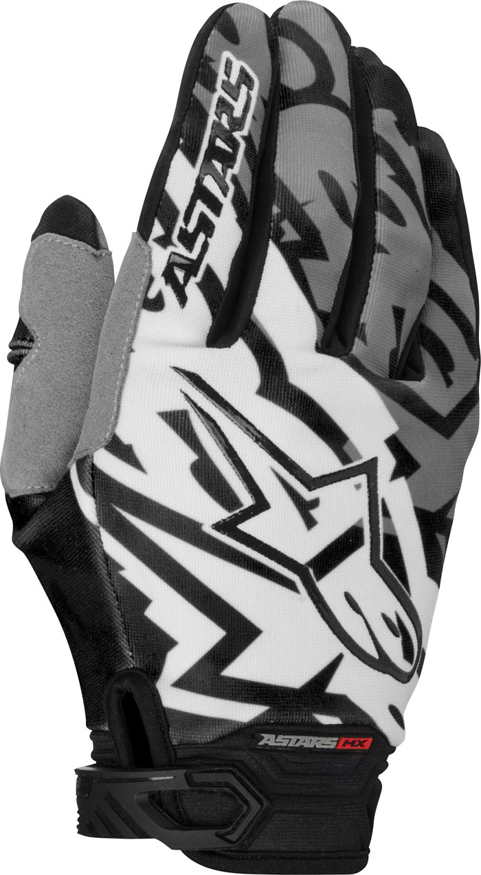 Cross Gloves Alpinestars Racer Gray Black