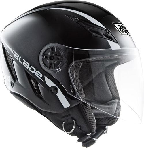 Casco moto Agv Blade mono nero lucido