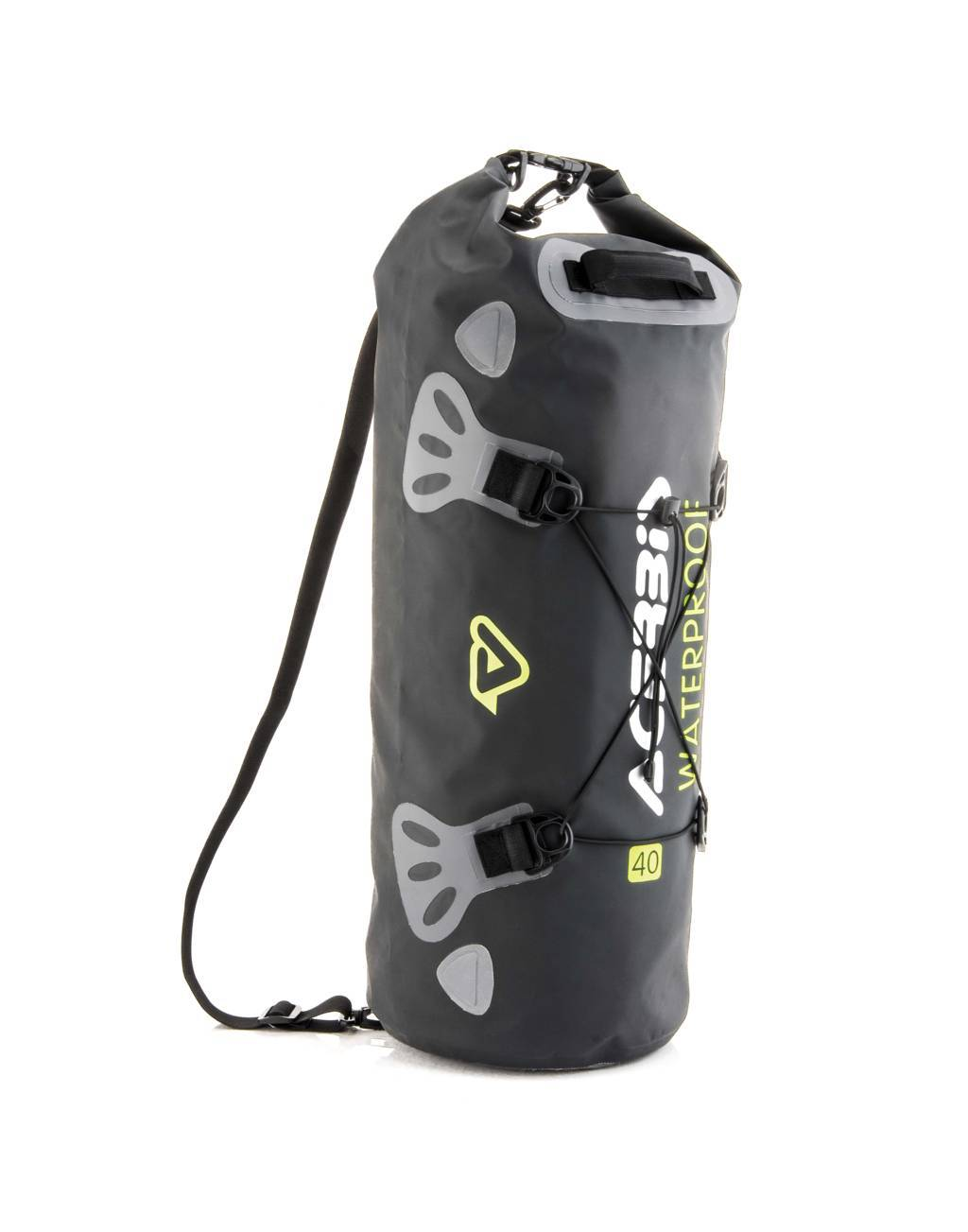 Borsa a rullo impermeabile Acerbis No Water Vertical Bag 40 litri Nero Giallo