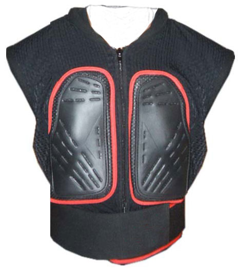 Protective motorcycle vest