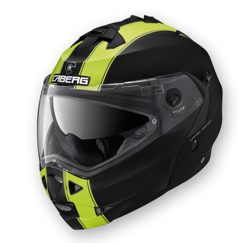 Modular Helmet Caberg Duke Legend Matte Black Yellow fluo