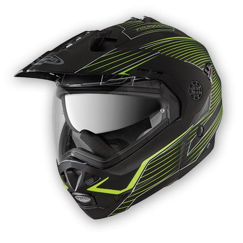 Modular helmet Caberg Tourmax Sonic matte black neon yellow