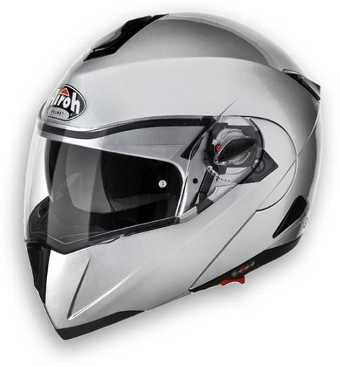 Casco moto modulare Airoh C-100 Color silver metal omol. P-J