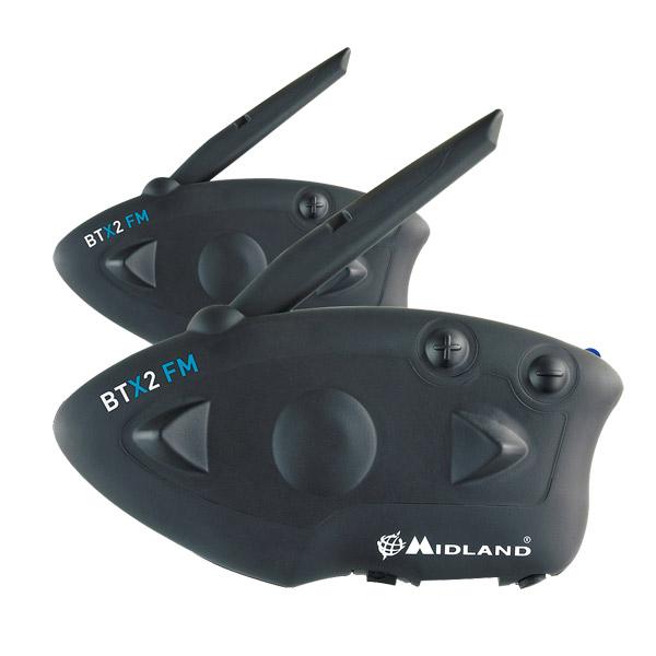 Interfono Midland BTX2 FM kit per due caschi