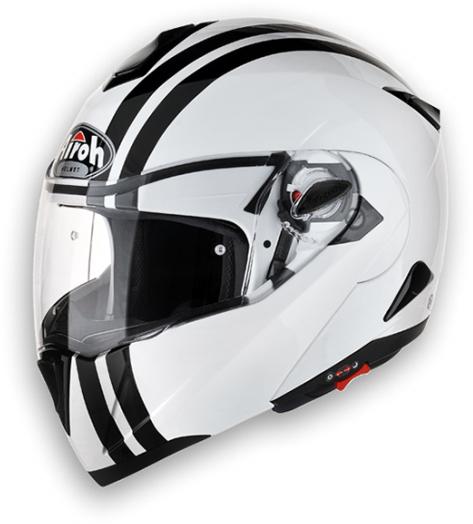 Airoh C-100 Flash modular helmet white gloss homol. P-J