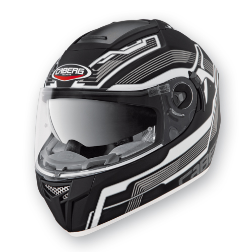 Full Face Helmet Caberg Ego Streamline Black Matte White
