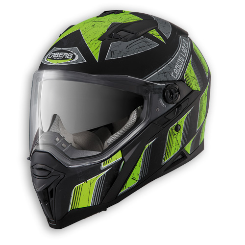 Face helmet Caberg Stunt Steez matte black neon yellow