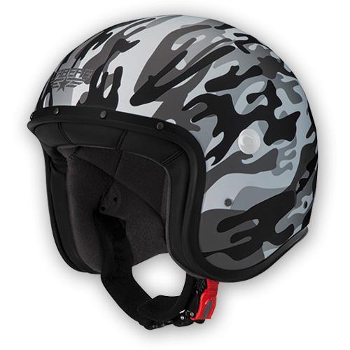 Jet Helmet Caberg Freeride Commander white matte gray
