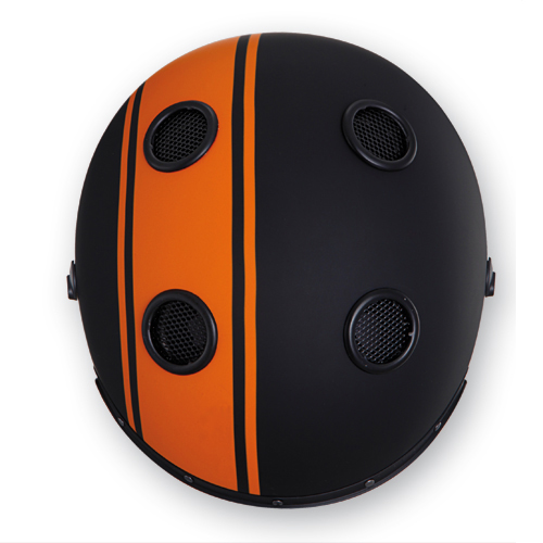 Caberg Doom Legend jet helmet matte Black Orange