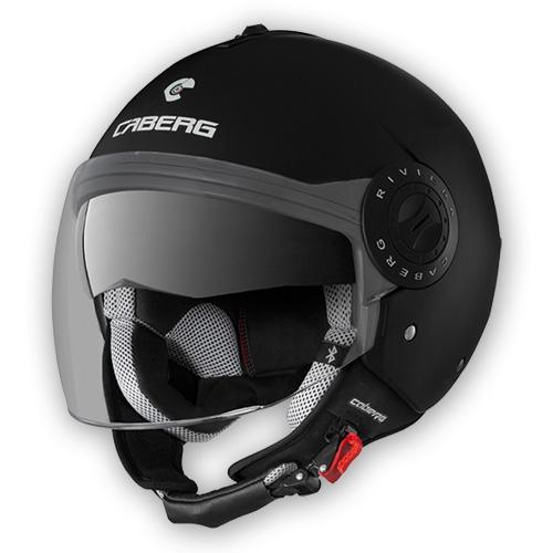 Caberg Riviera V2+ jet helmet matte Black