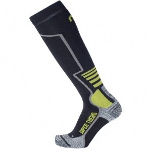 Wool socks Mico SuperThermo Black Green