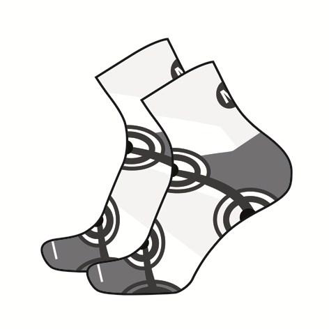 Short socks running Mico MC2 White Black
