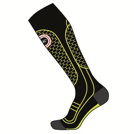 Long socks ski Mico MC2 Medium Black Yellow