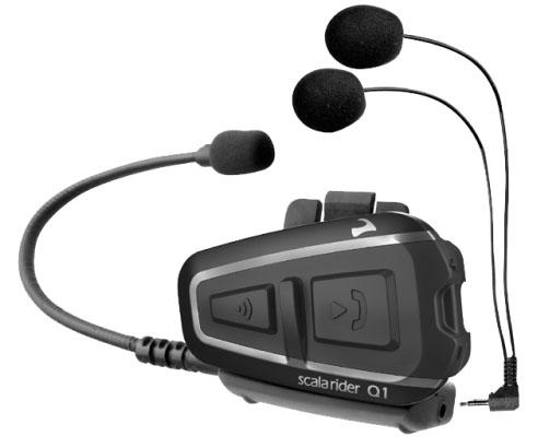 Cardo Scala Rider Q1 Interphone for one helmet