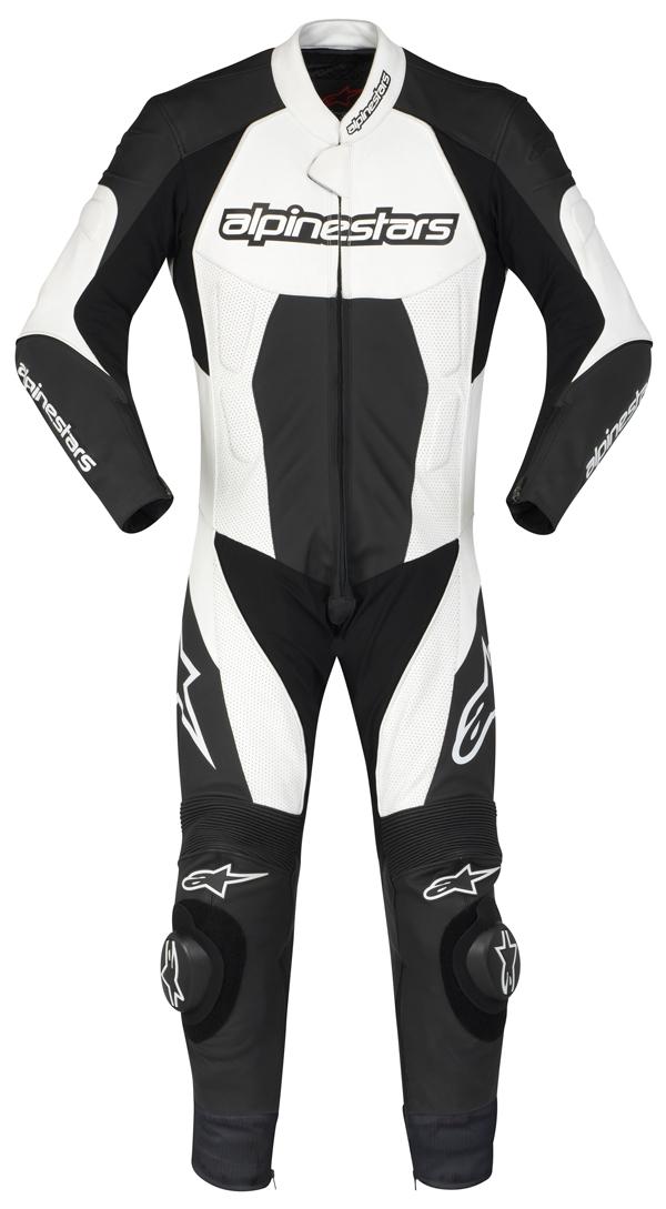 Alpinestars Carver leather suit black-white