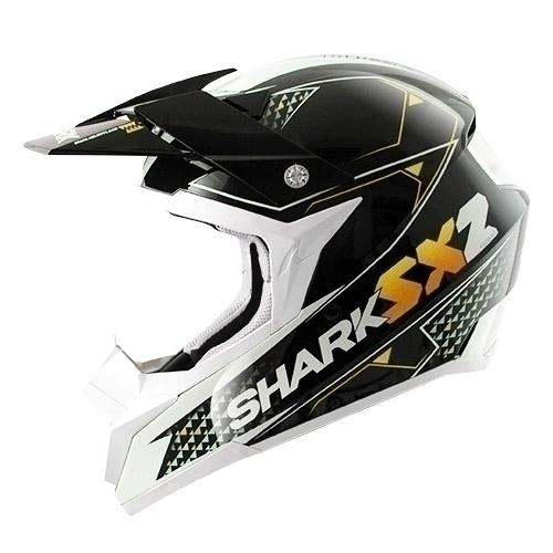 Casco cross Shark SX2 KAMABOKO Nero Arancio Bianco