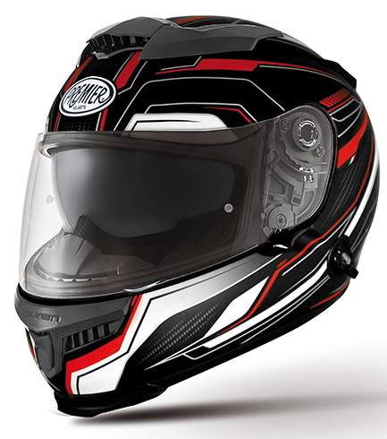 Casco integrale Premier Touran PX9 BM nero rosso bianco