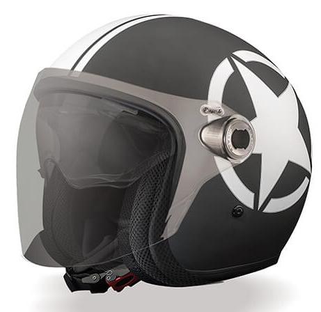 Casco jet Premier Vangarde Star 9 BM nero bianco