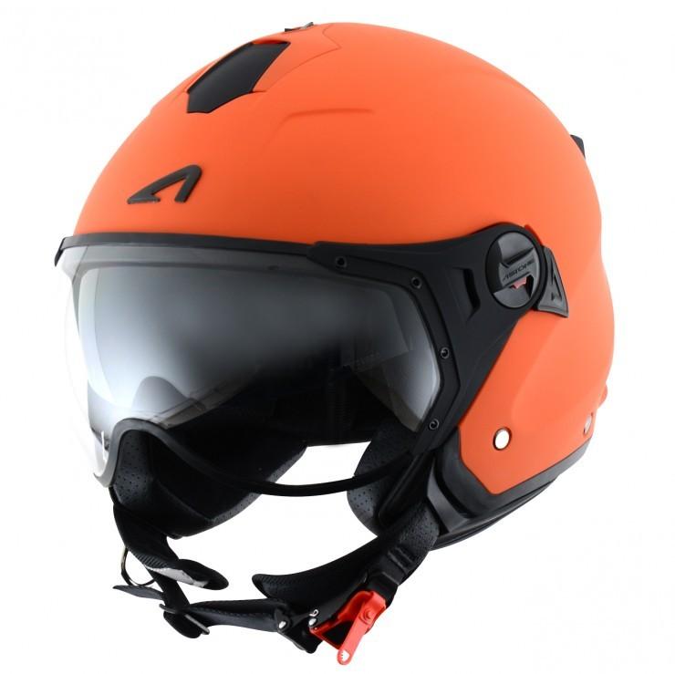 Casco jet Astone Helmets Minijet Sport Arancio lucido