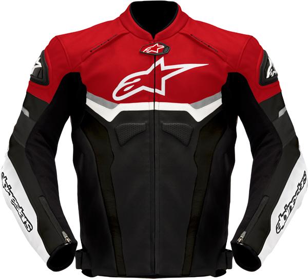 Giacca moto pelle Alpinestars Celer nero-rosso-antracite